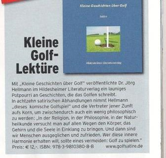 Rezension in der Golftime